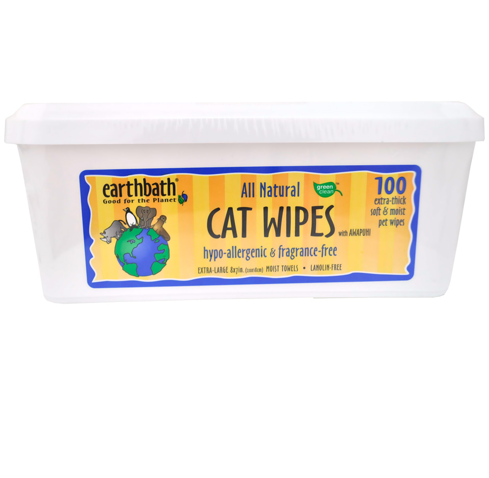Earthbath Hypo-Allergenic Cat Wipes (100 wipes) im test