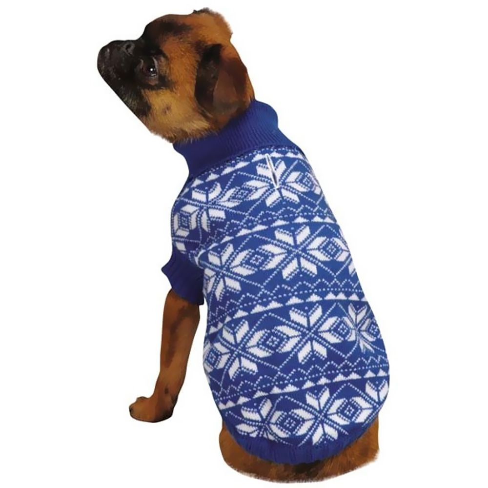 East Side Collection Holiday Snowflake Sweater Blue - MEDIUM im test