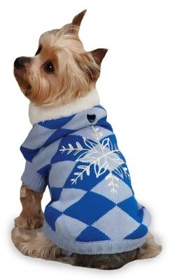 """East Side Collection Snowflake Snuggler Sweaters Blue - XS (10"""")"""