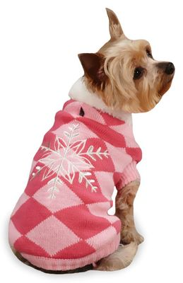 """East Side Collection Snowflake Snuggler Sweaters Pink - XXS (8"""")"""