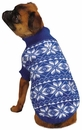 East Side Collection Snowflake Sweater Blue