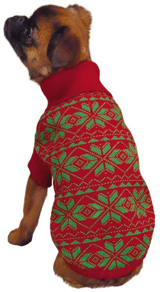 East Side Collection Snowflake Sweater Red