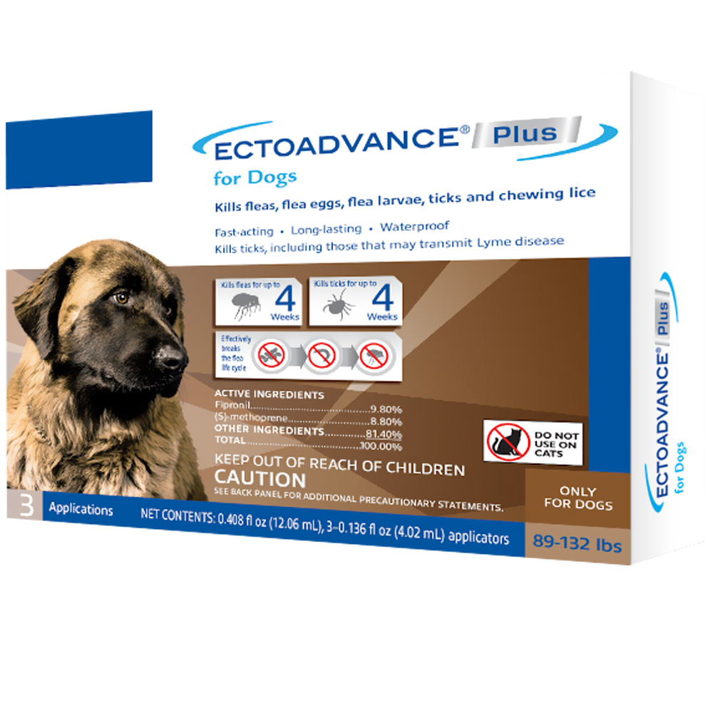 EctoAdvance Plus for Dogs 89-132 lbs (3 Doses) im test