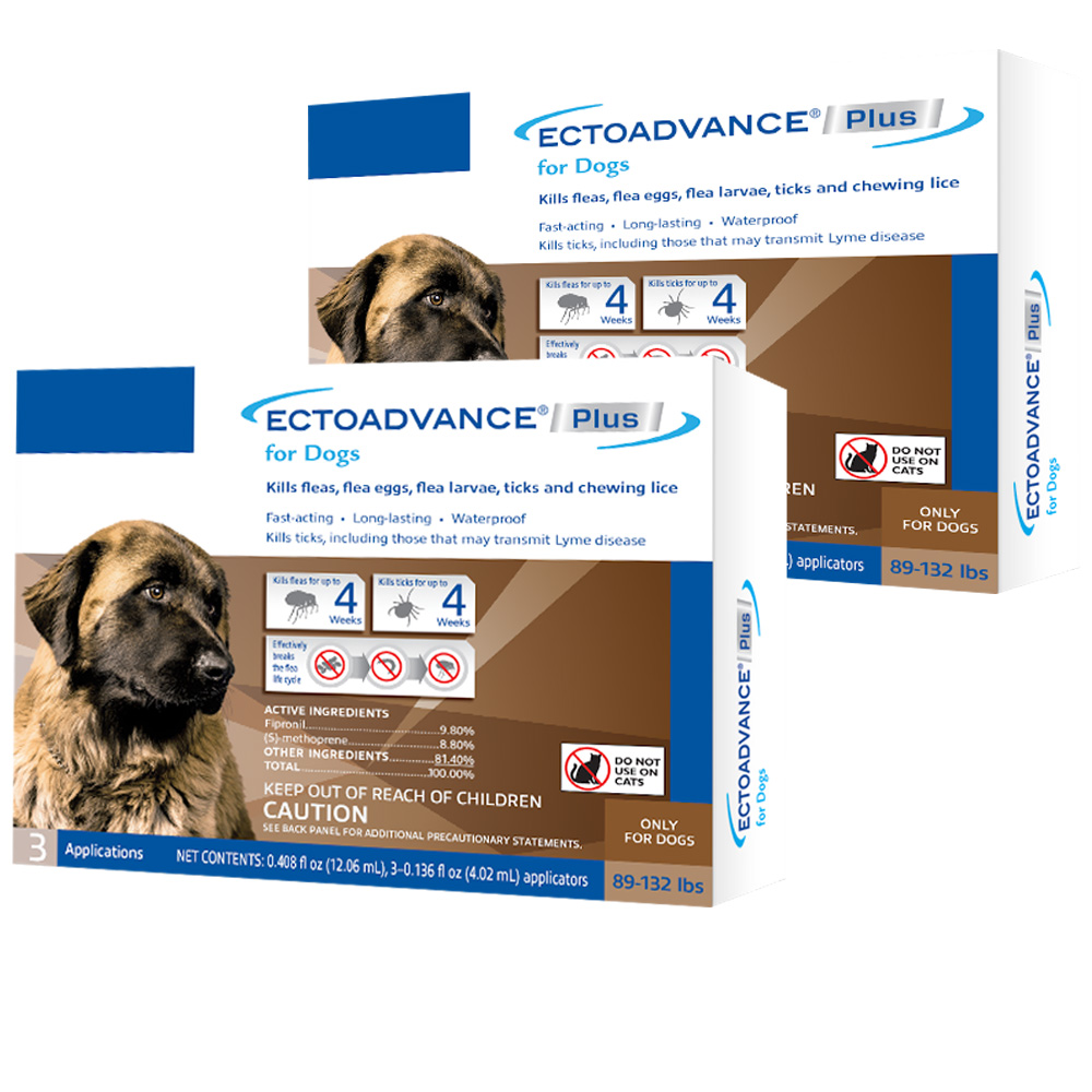 EctoAdvance Plus for Dogs 89-132 lbs (6 Doses) im test
