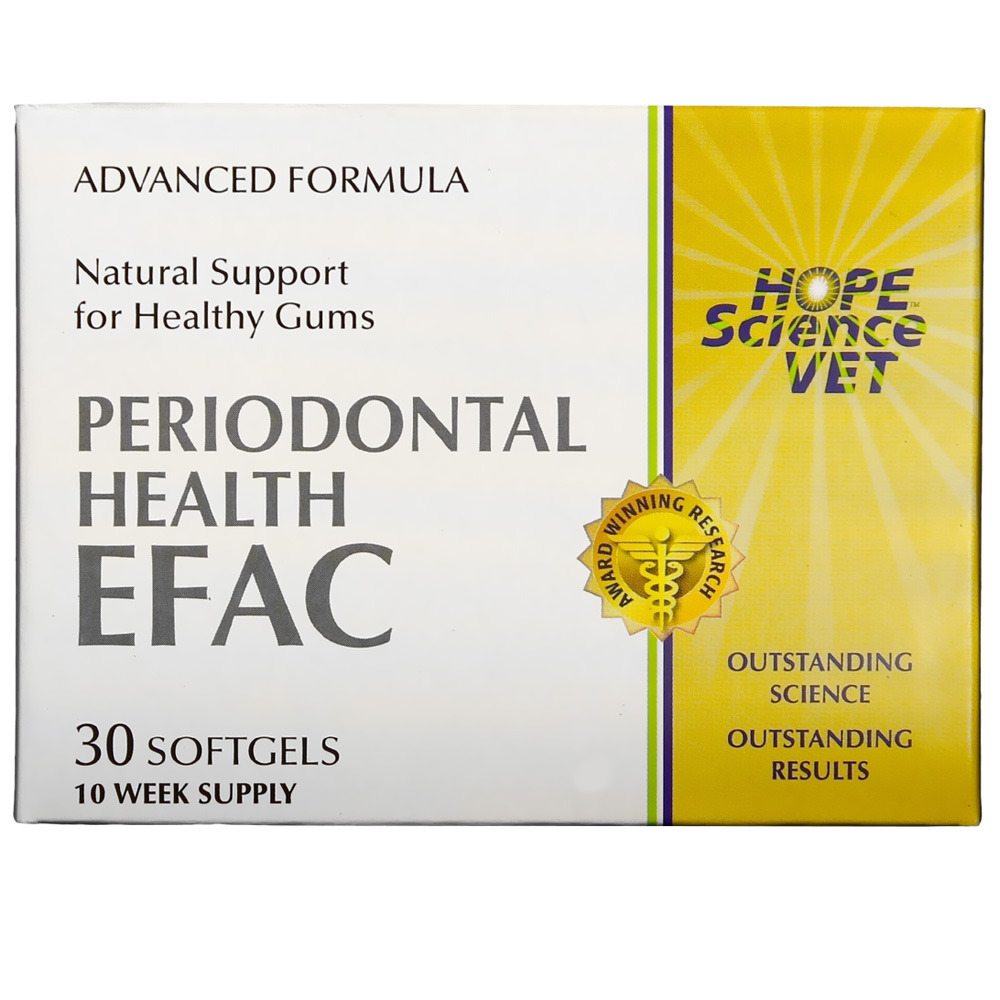 Image of EFAC Periodontal Health Advance Formula for Dogs & Cats (30 Softgels)