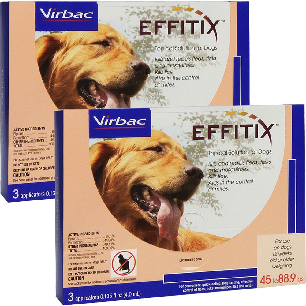 Effitix Topical solution for Dogs 45-88.9 lbs. - 6 Months im test