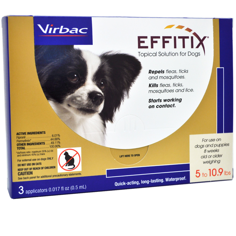 Effitix Topical solution for Dogs 5-10.9 lbs. - 3 Months im test