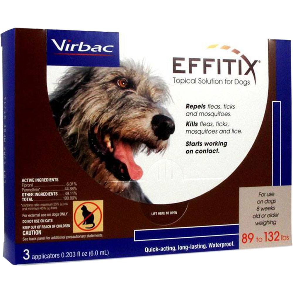 Effitix Topical solution for Dogs 89-132 lbs. - 3 Months im test