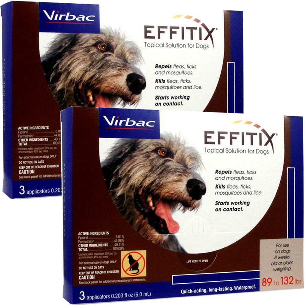 Effitix Topical solution for Dogs 89-132 lbs. - 6 Months im test