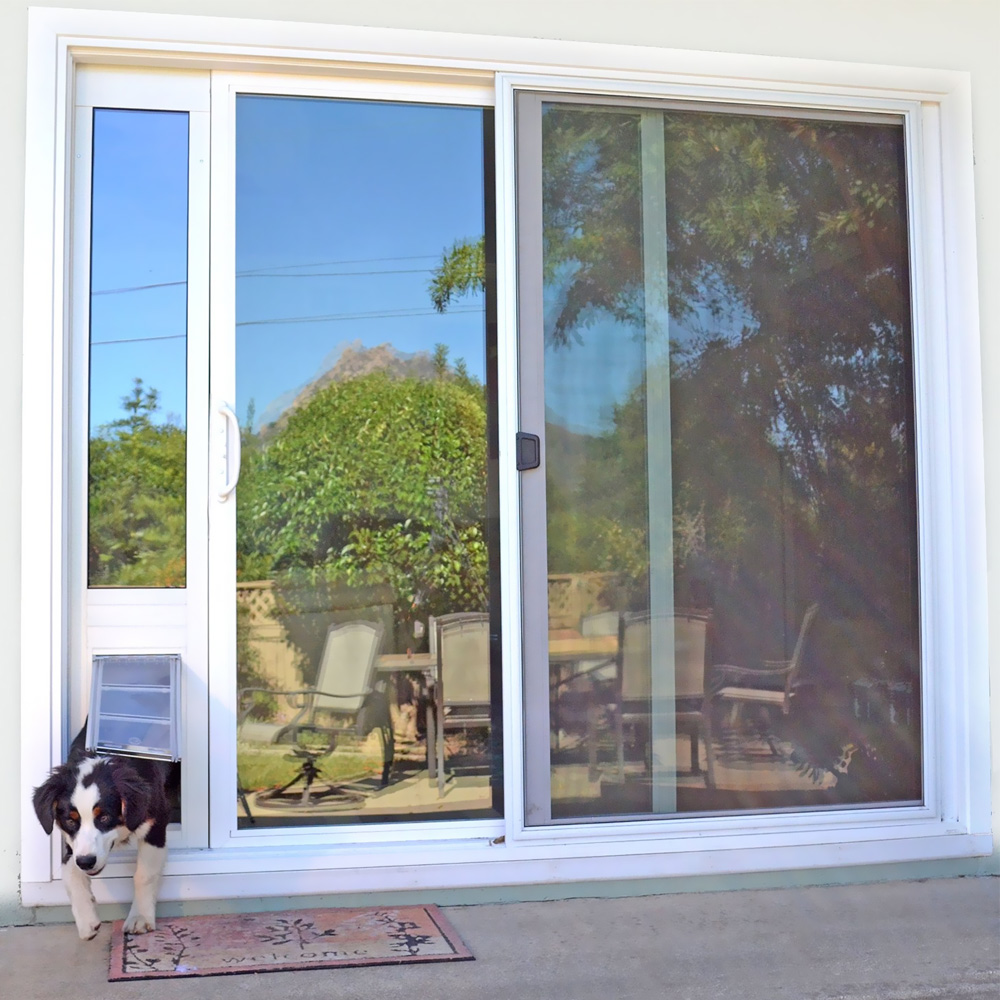 Endura Flap Pet Door Quick Panel 3 Bronze Frame Large 7475