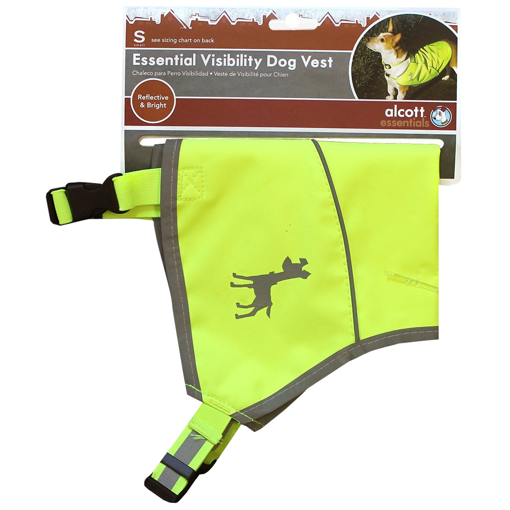 Image of Essential Visibility Dog Vest Neon Yellow - Small