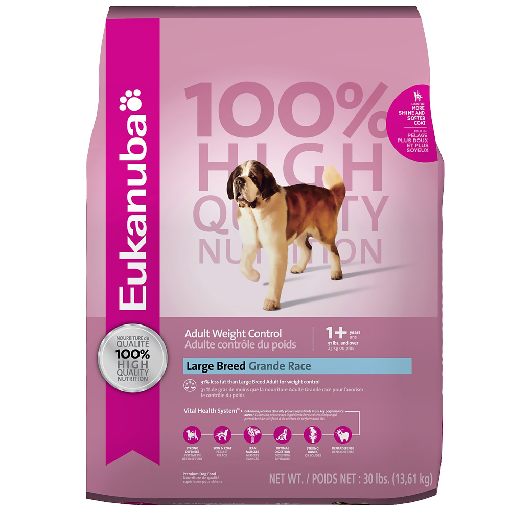 Eukanuba Adult Weight Control - Large Breed Dog Food (30 lb) im test