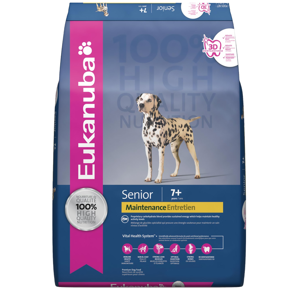 Eukanuba Senior Maintenance Dog Food (15 lb) im test