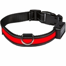 Eyenimal USB Light Collar Rechargeable Red - Large