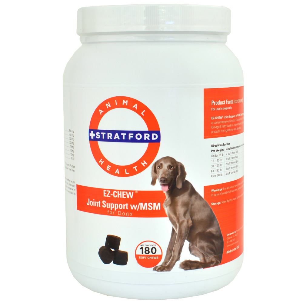 EZ-CHEW-JOINT-SUPPORT-MSM-DOGS-180-SOFT-CHEWS