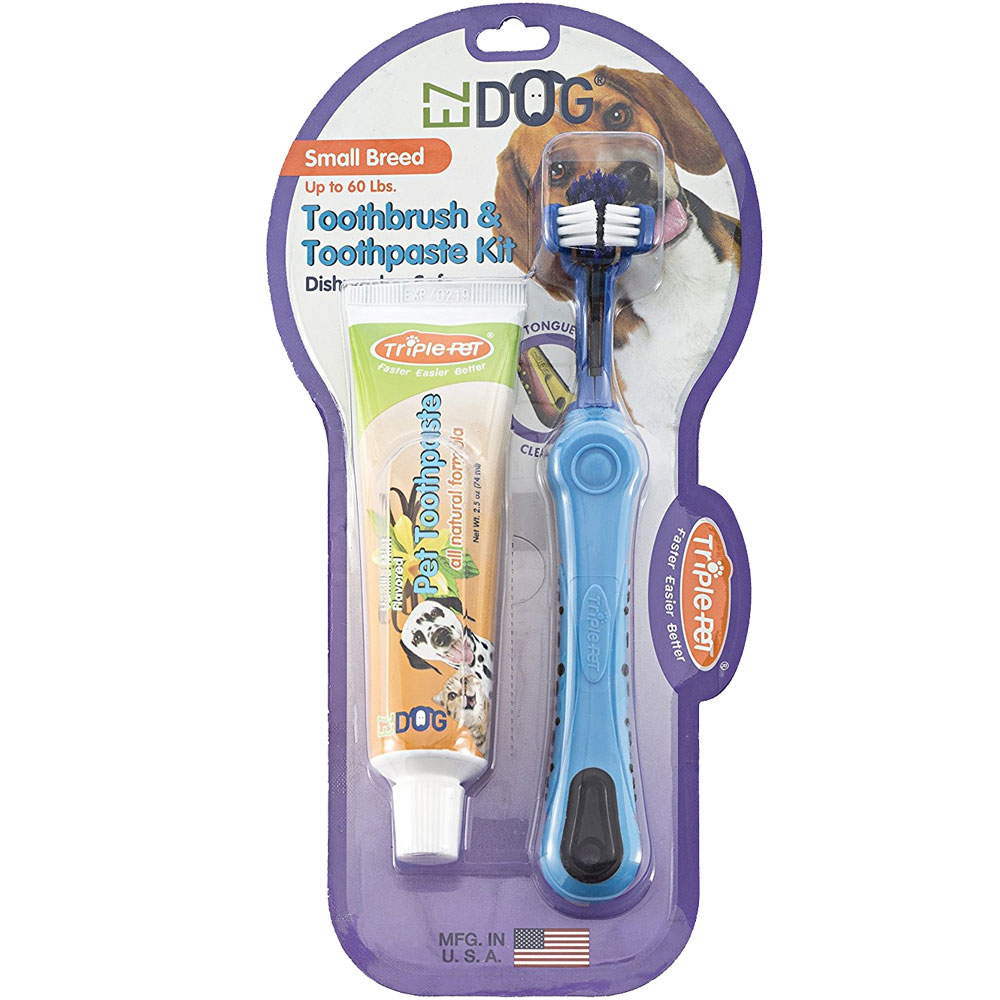 EZ Dog Toothbrush & Toothpaste Kit - Small Breed