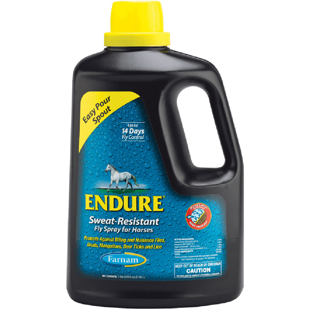 Farnam Endure Sweat Resistant Fly Spray for Horses, Easy Pour Spout Refill, 1 Gallon im test