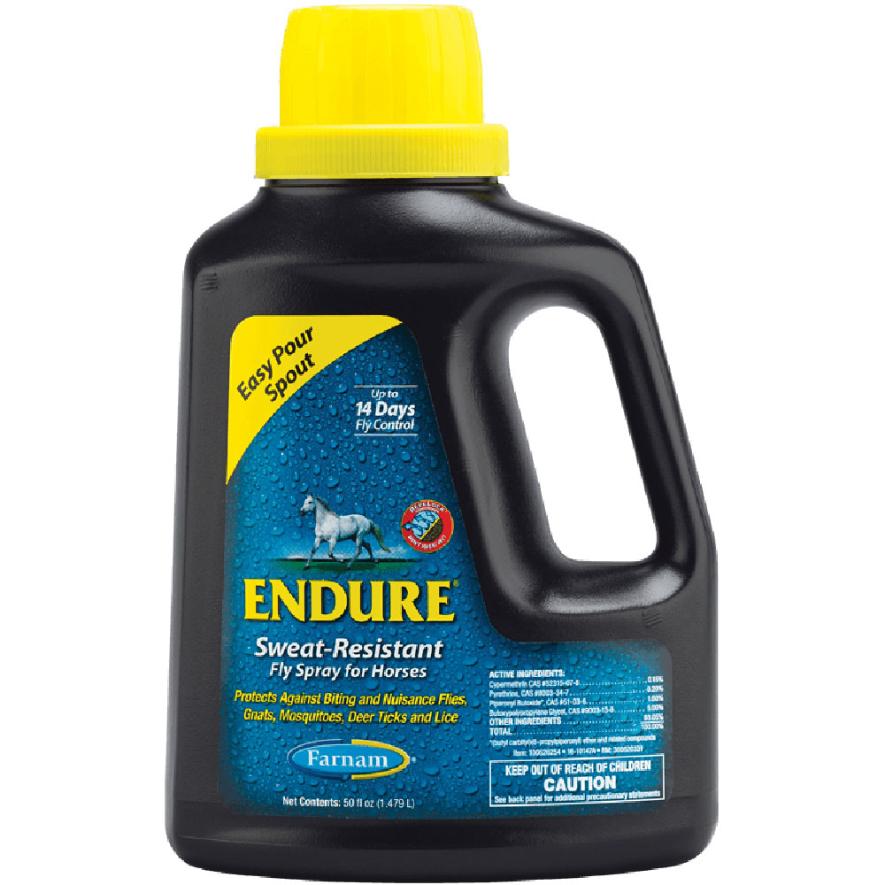 Farnam Endure Sweat Resistant Fly Spray for Horses, Easy Pour Spout Refill, 50oz im test
