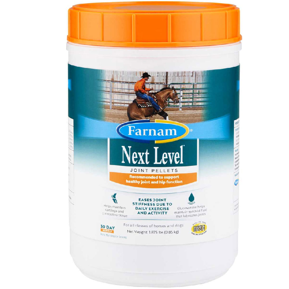 Farnam Next Level Joint Pellets for Horses and Dogs, 1.875lb im test