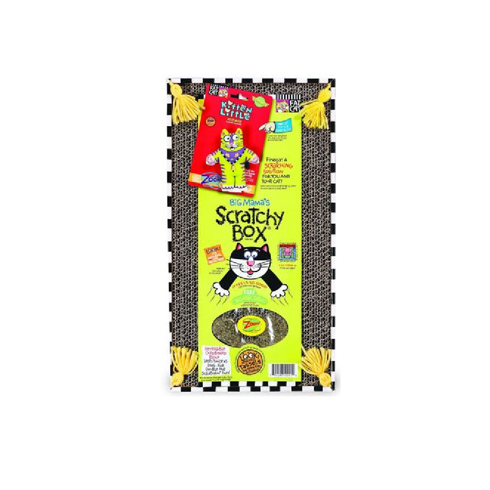 Fat Cat Big Mama'S Scratchy Box - Double Wide - Assorted im test