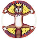 Fat Cat Classic Dog Toy Rings - Assorted