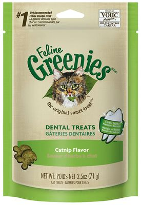 Greenies Feline Dental Treats - Catnip Flavor (2.5 oz)