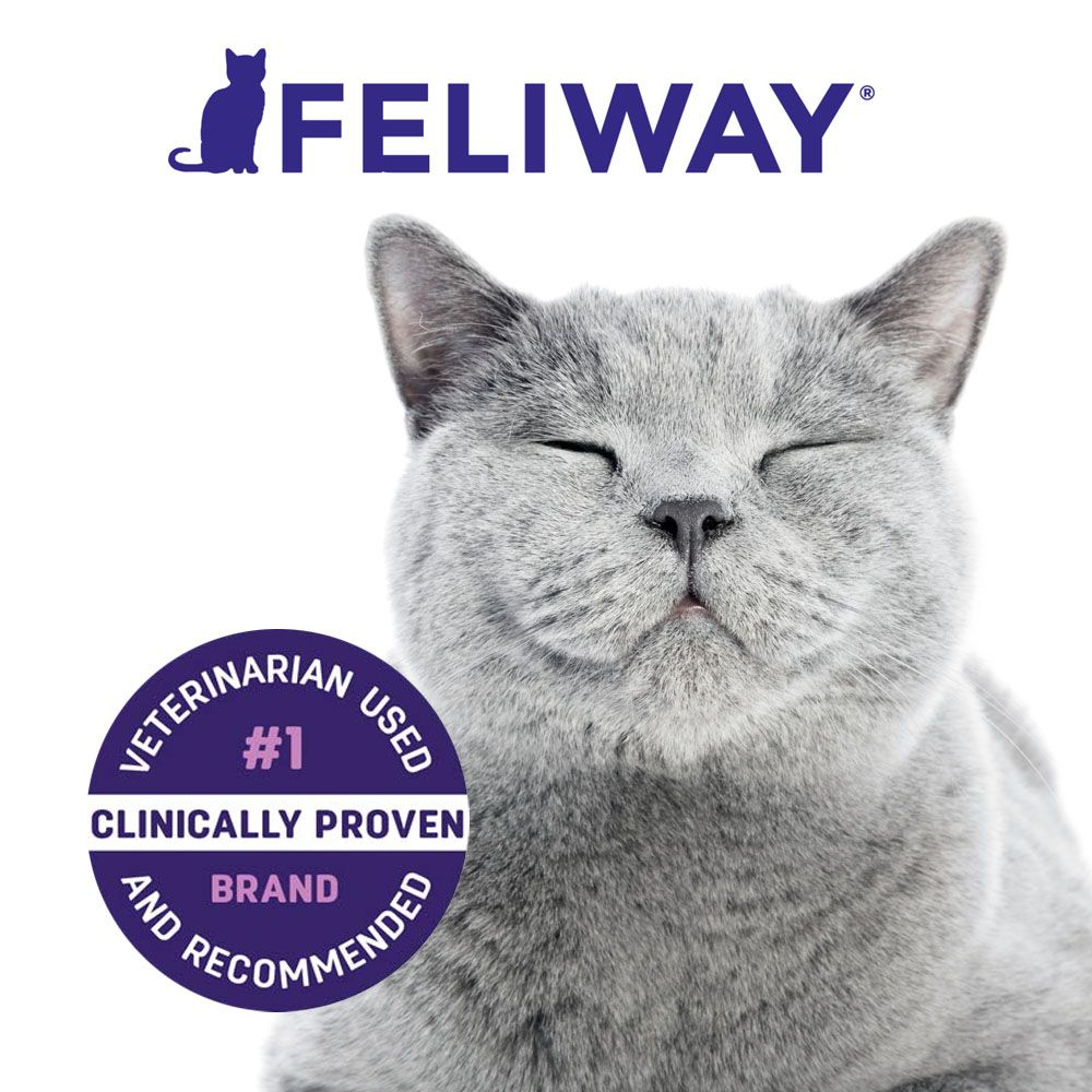 Smiling cat next to seal reading veterinarian used and recommended. Number 1 brand
