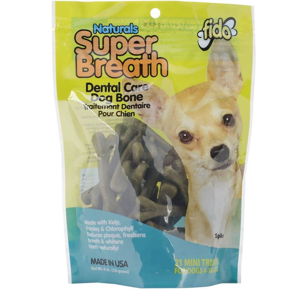 Fido Dental Care Super Breath Bones (Mini 21 Pack) im test