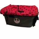 "FidoRido Pet Car Seat - Red/Black (24""x18x10"")"