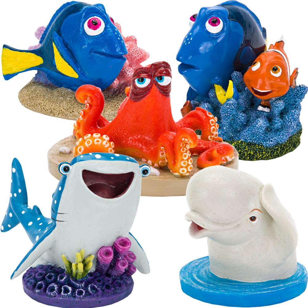 Image of Finding Dory & Friends Aquarium Ornament Set - Mini