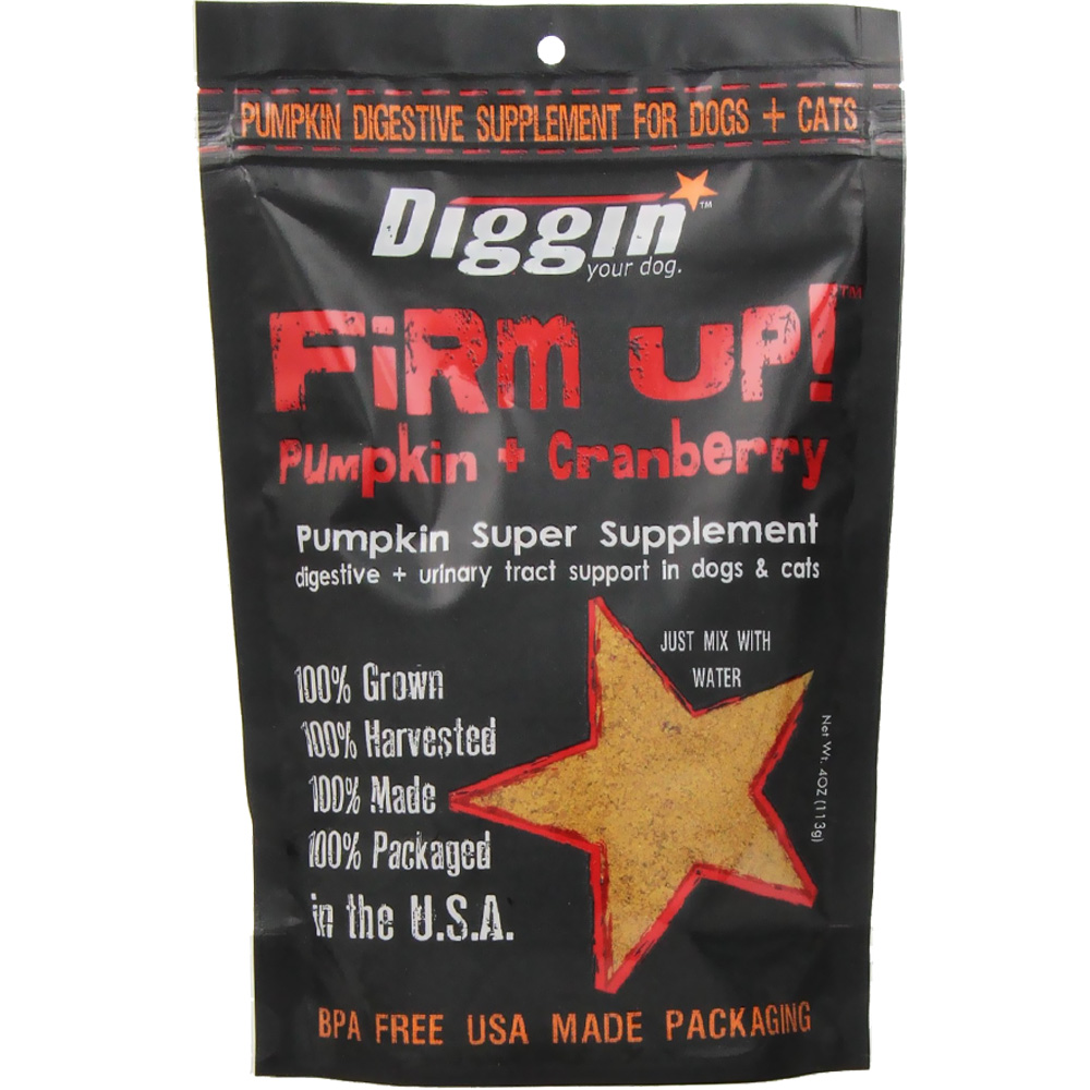 Firm Up! Pumpkin + Cranberry Digestive + Urinary Tract Support for Dogs & Cats (4 oz)