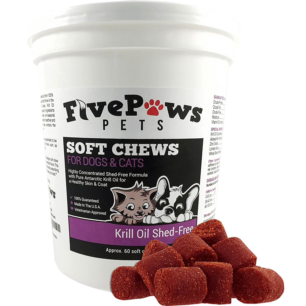 Five Paws Krill Oil Shed-Free for Dogs & Cats (60 Soft Chews) im test