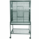 """Flight Cage & Stand - Green (32""""x21""""x63"""")"""