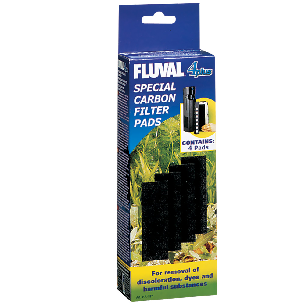 Image of Fluval 4 Plus Carbon Pads - 4-Pack - from EntirelyPets