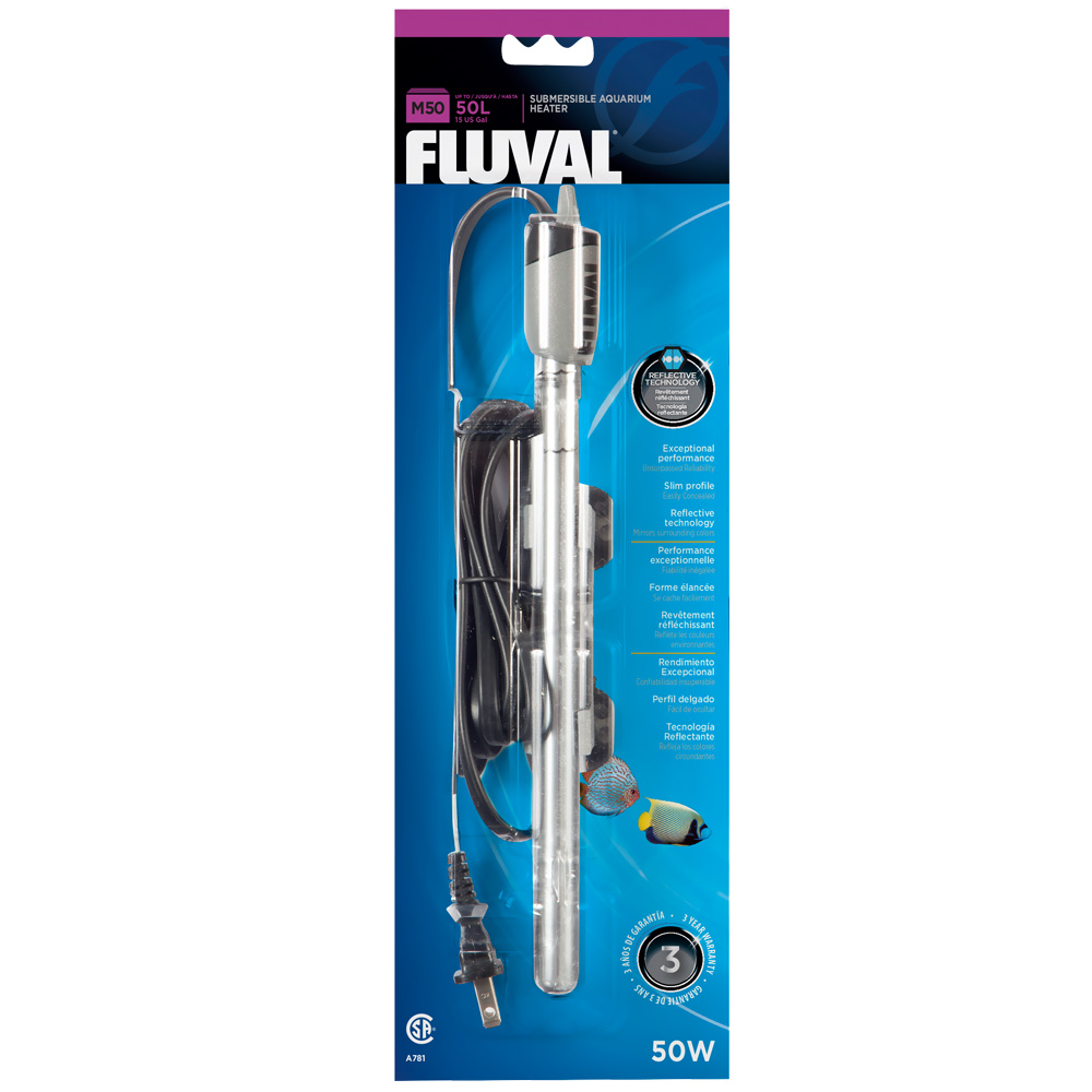 Image of Fluval M50 Submersible Glass Aquarium Heater (50 watts)