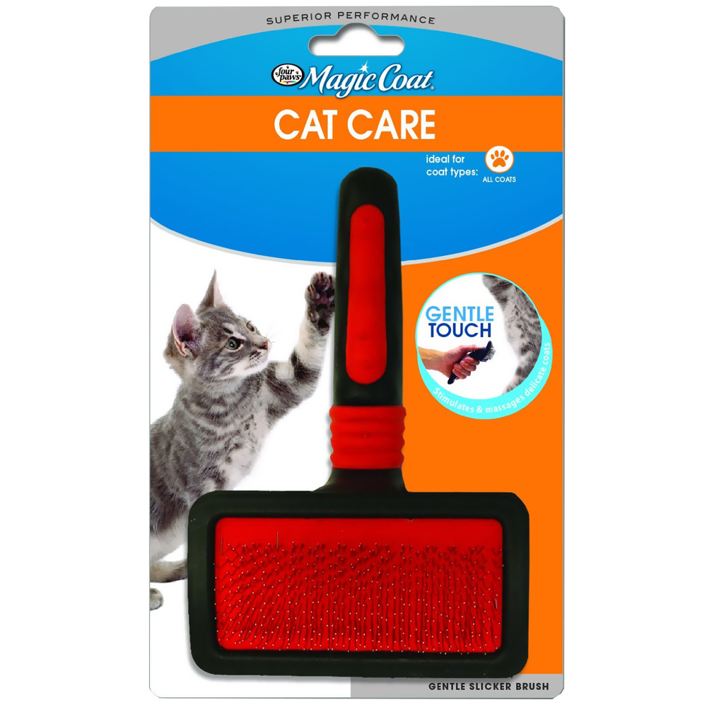 Image of Four Paws Magic Coat Gentle Slicker Wire Brush for Cats