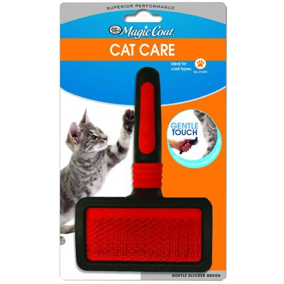 FOUR-PAWS-MAGIC-COAT-GENTLE-SLICKER-WIRE-BRUSH-CATS