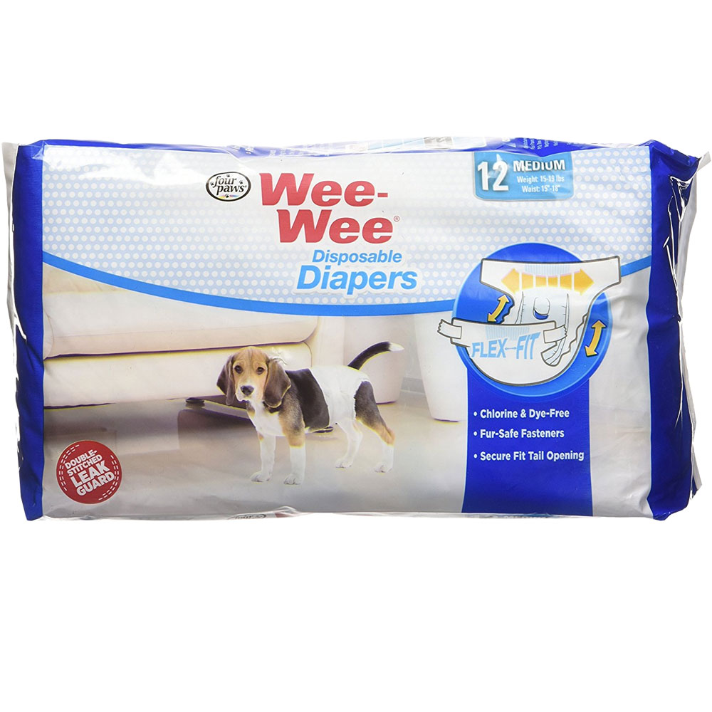 Four Paws Wee-Wee Dog Diapers Medium (12 diapers) im test