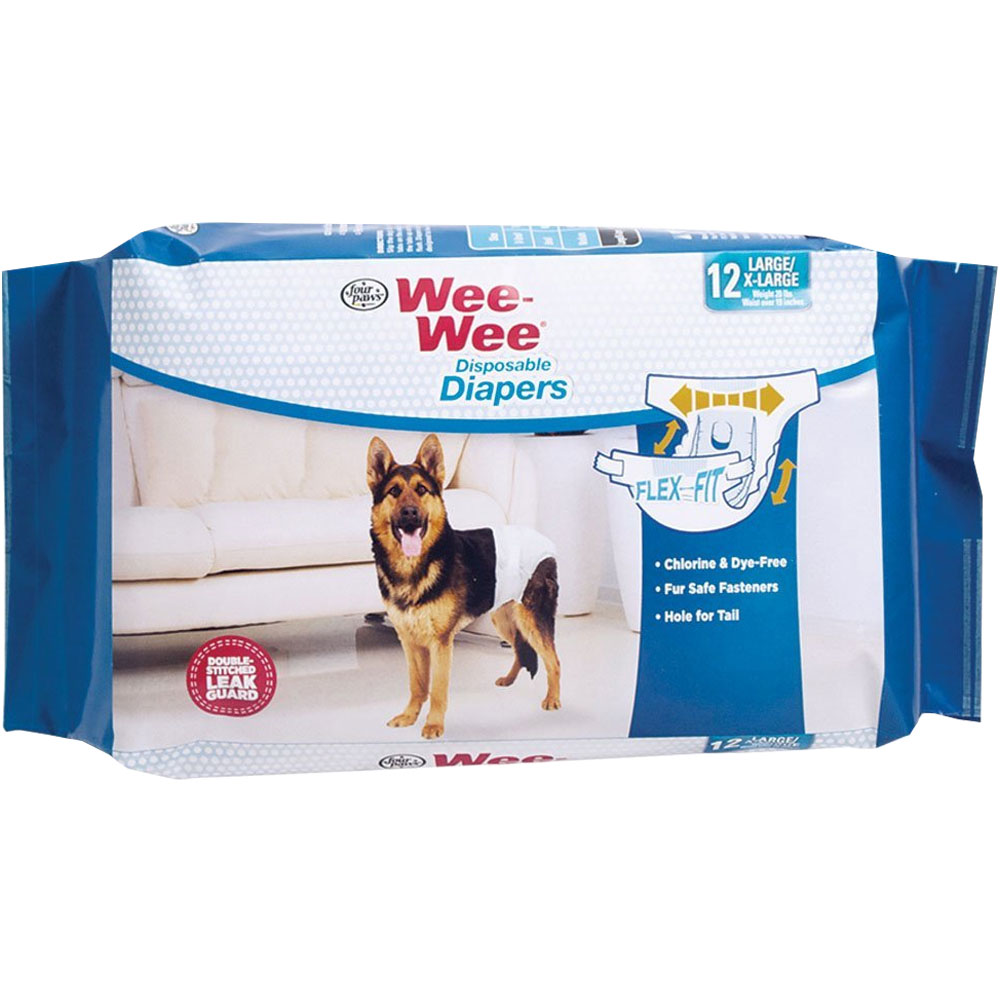 Four Paws Wee-Wee Dog Diapers X-Large (12 diapers) im test