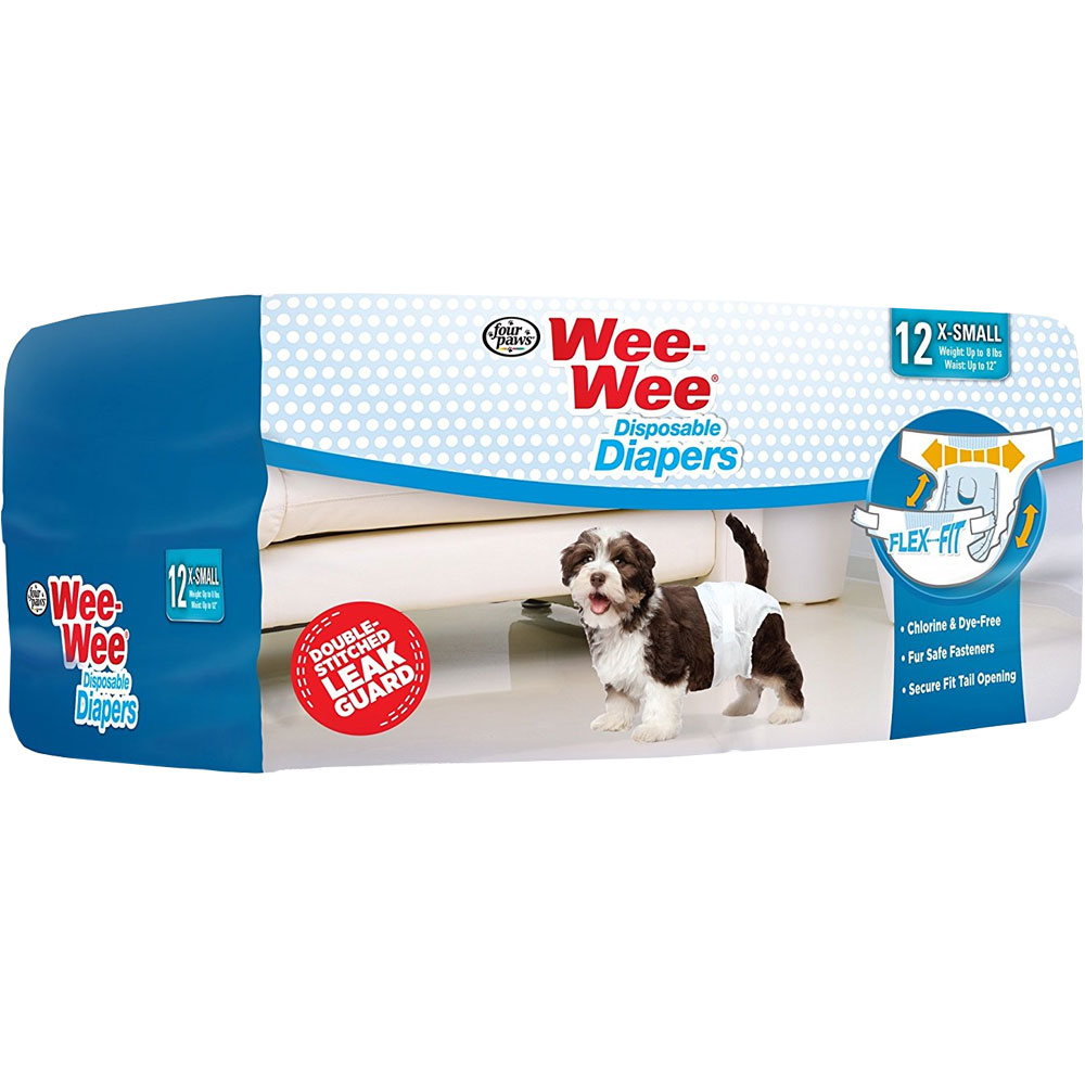Four Paws Wee-Wee Dog Diapers X-Small (12 diapers) im test