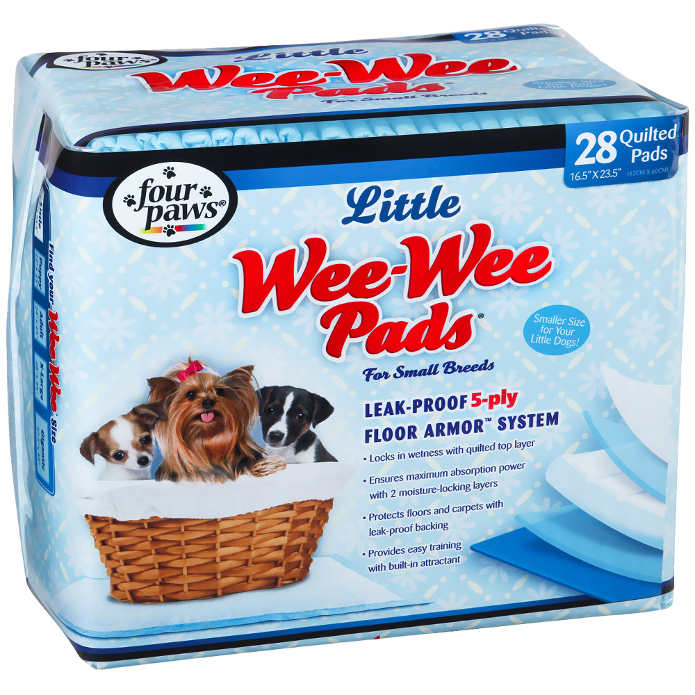 Image of Four Paws Wee-Wee Pads for Little Dogs (28 pads)