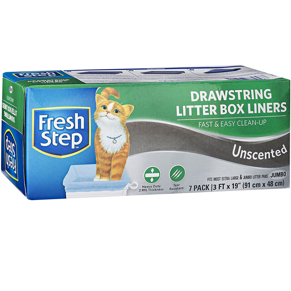 Fresh Step Unscented Drawstring Litter Box Liner - Jumbo (7-pack) im test