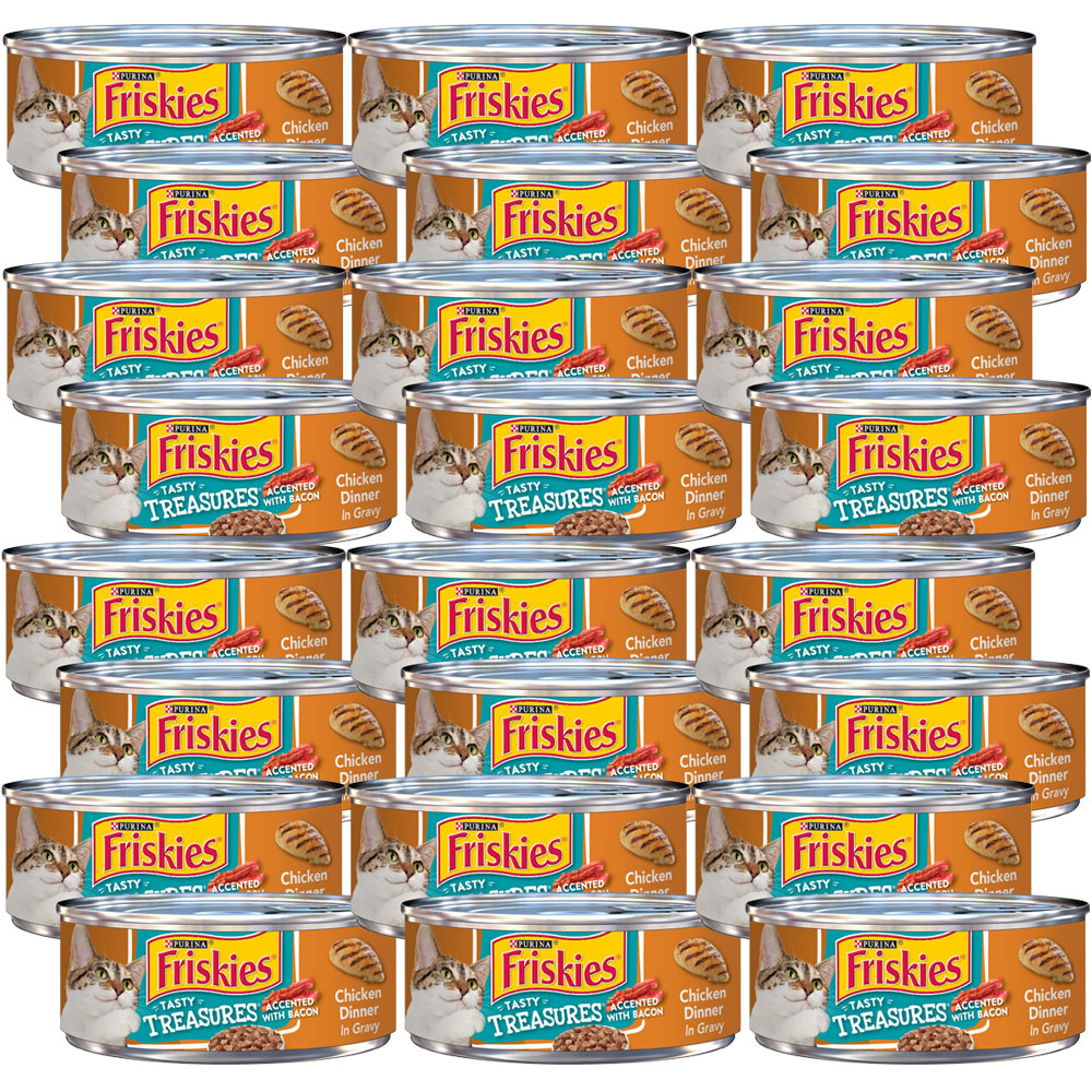 Image of Friskies Tasty Treasures - Chicken Dinner Canned Cat food - 24x5.5 oz - from EntirelyPets
