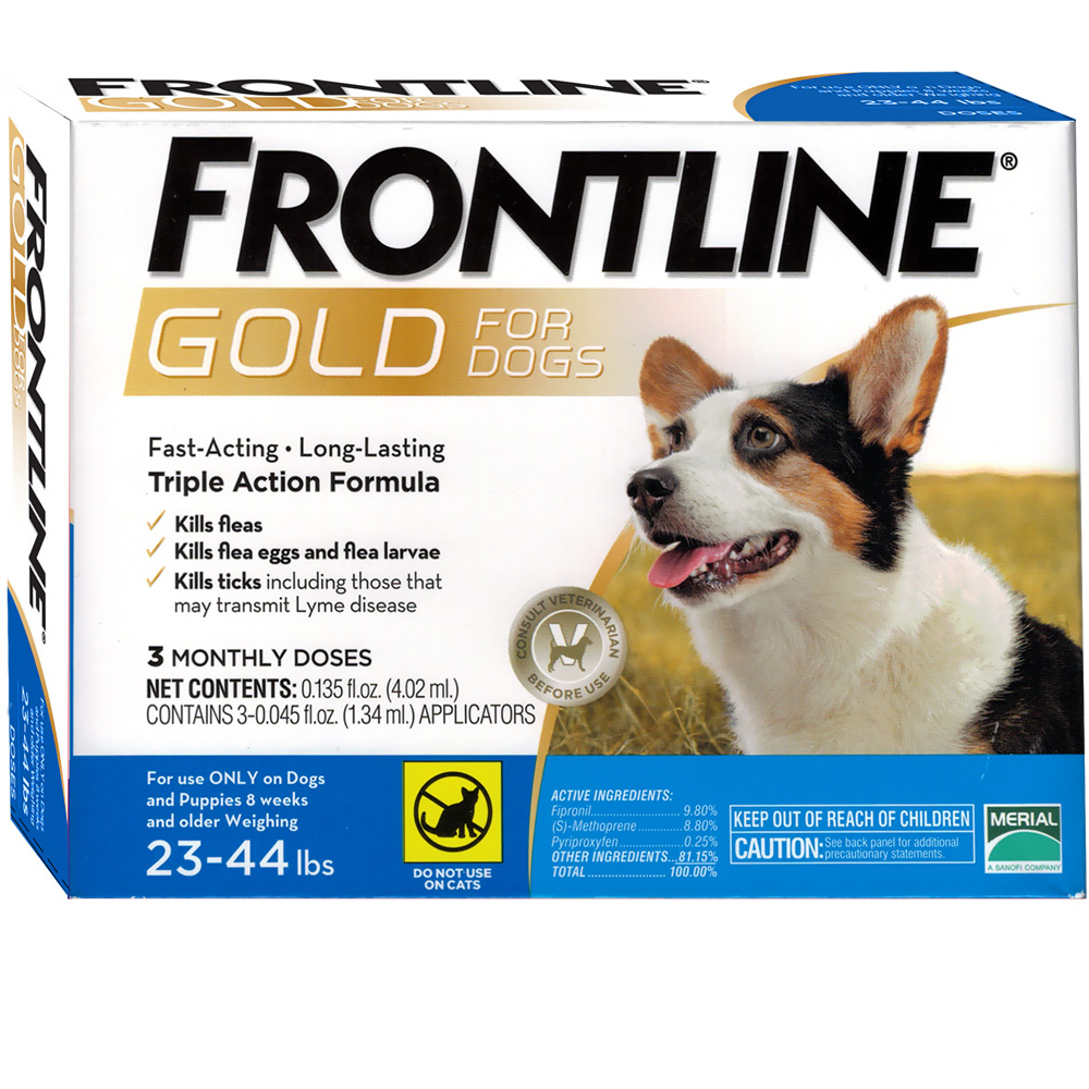 Frontline Gold for Dogs 23-44 lbs, 3 Month im test
