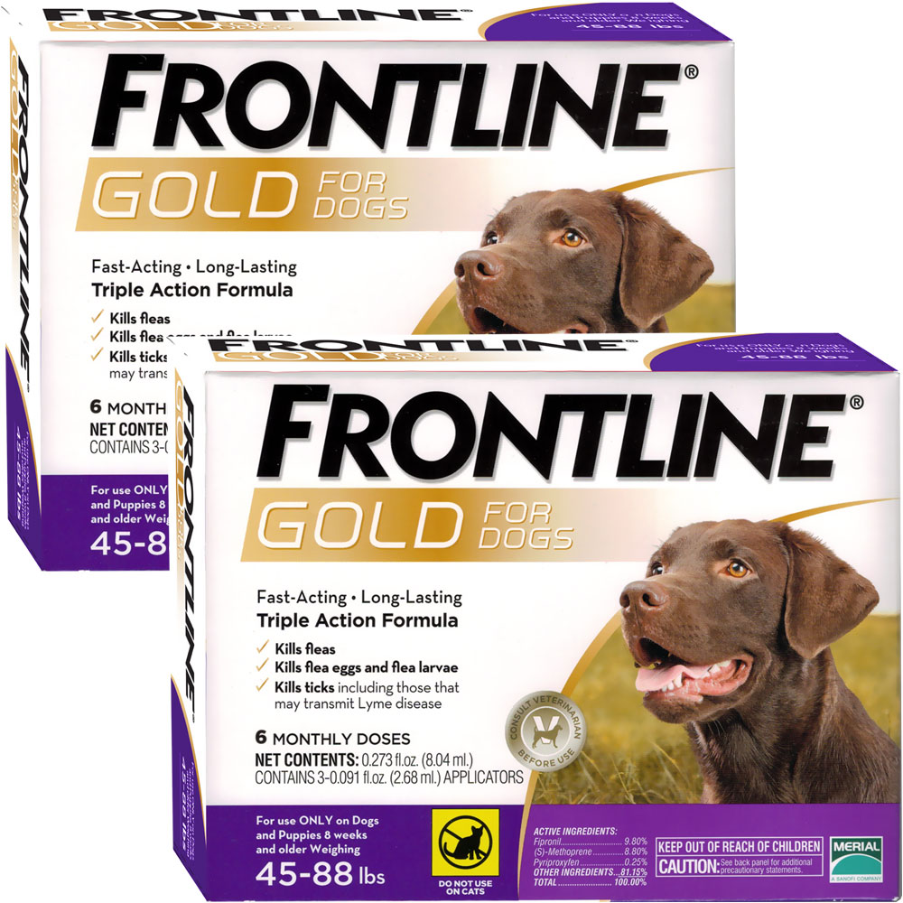 Frontline Gold for Dogs 45-88 lbs, 12 Month im test
