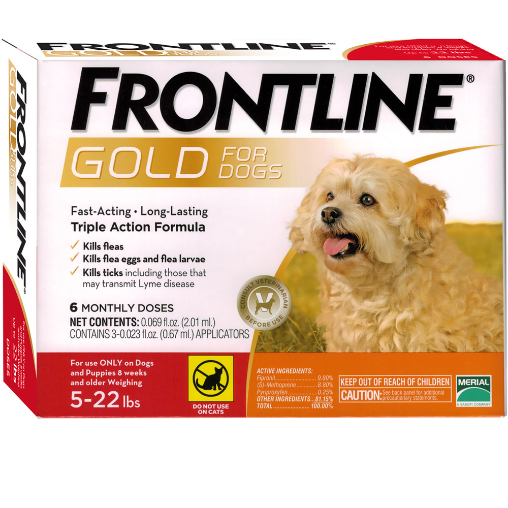 Frontline Gold for Dogs 5-22 lbs, 6 Month im test