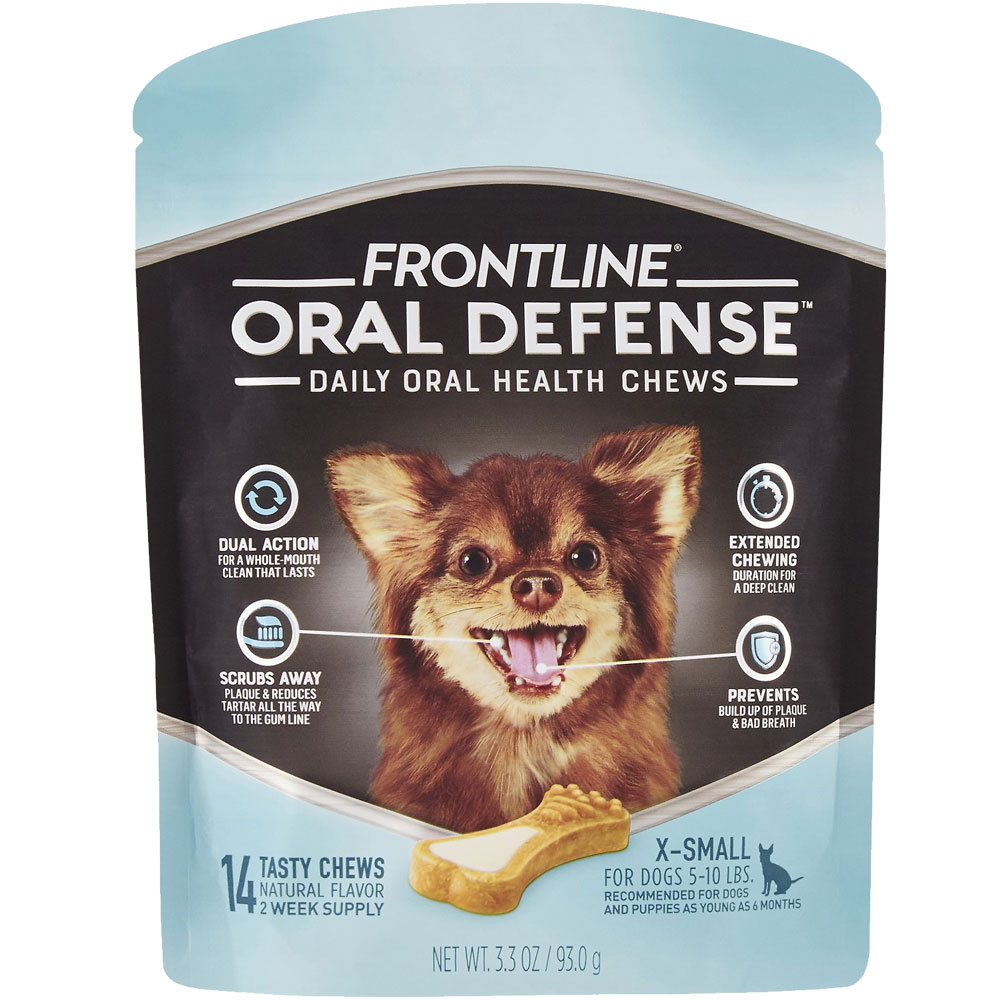 Frontline Oral Defense Daily Oral Health Chews for Extra-Small Dogs - 5-10 lbs (14 count) im test