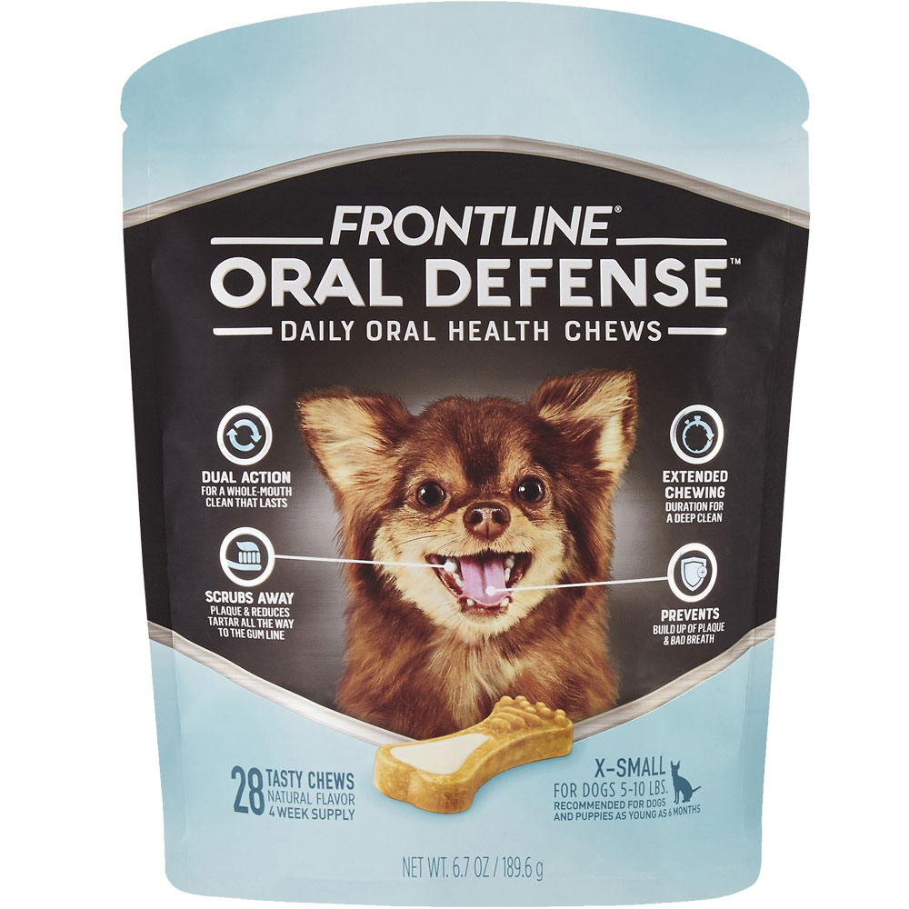 Frontline Oral Defense Daily Oral Health Chews for Extra-Small Dogs - 5-10 lbs (28 count) im test