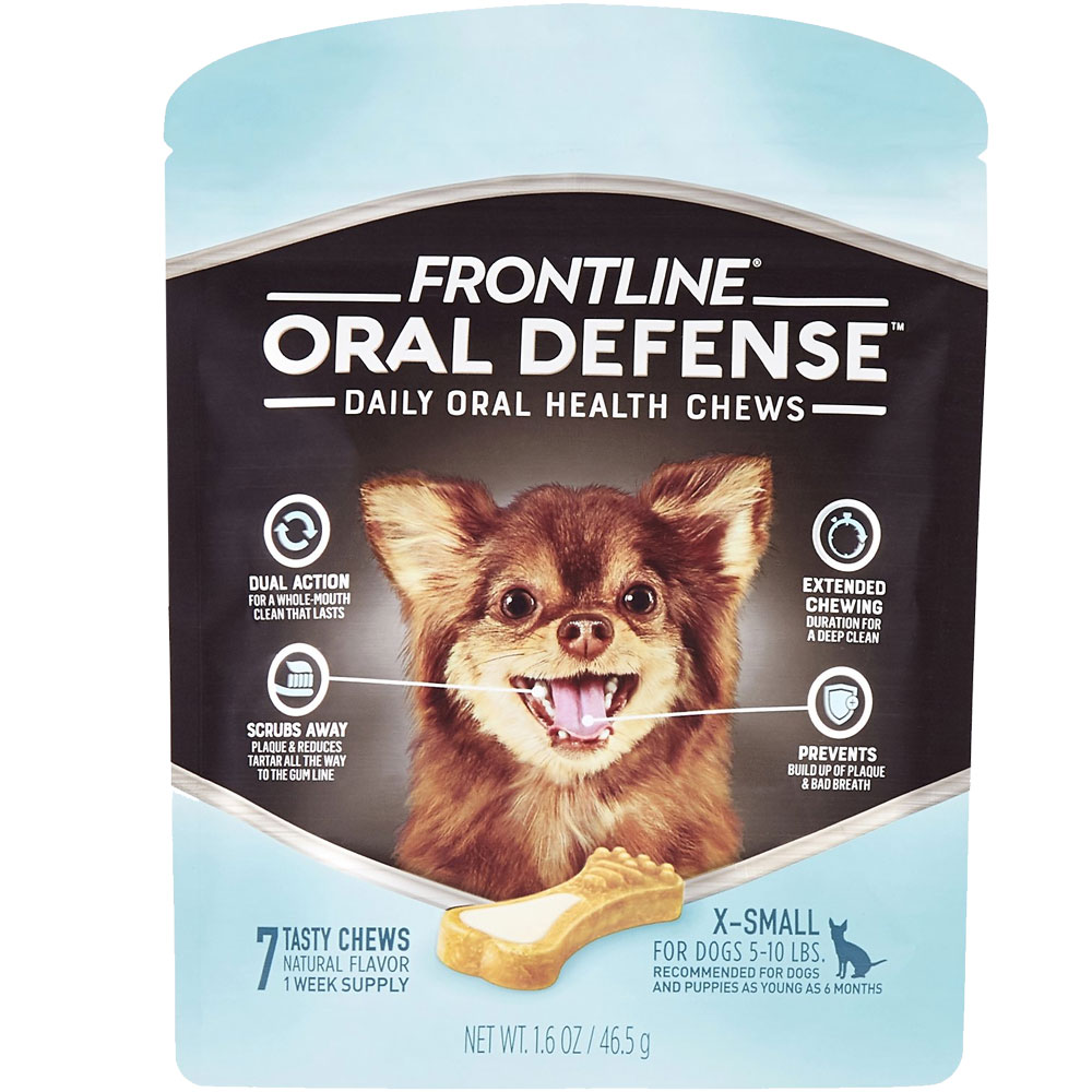 Frontline Oral Defense Daily Oral Health Chews for Extra-Small Dogs - 5-10 lbs (7 count) im test