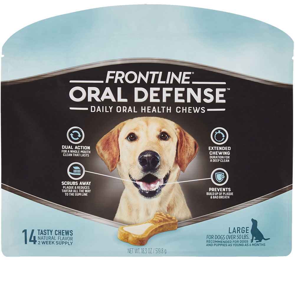 Frontline Oral Defense Daily Oral Health Chews for Large Dogs - Over 50 lbs (14 count) im test